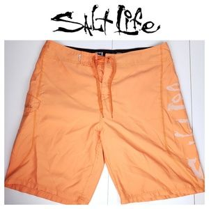 Salt Life Mens Board Shorts Sz 36 Swim Trunks Skul